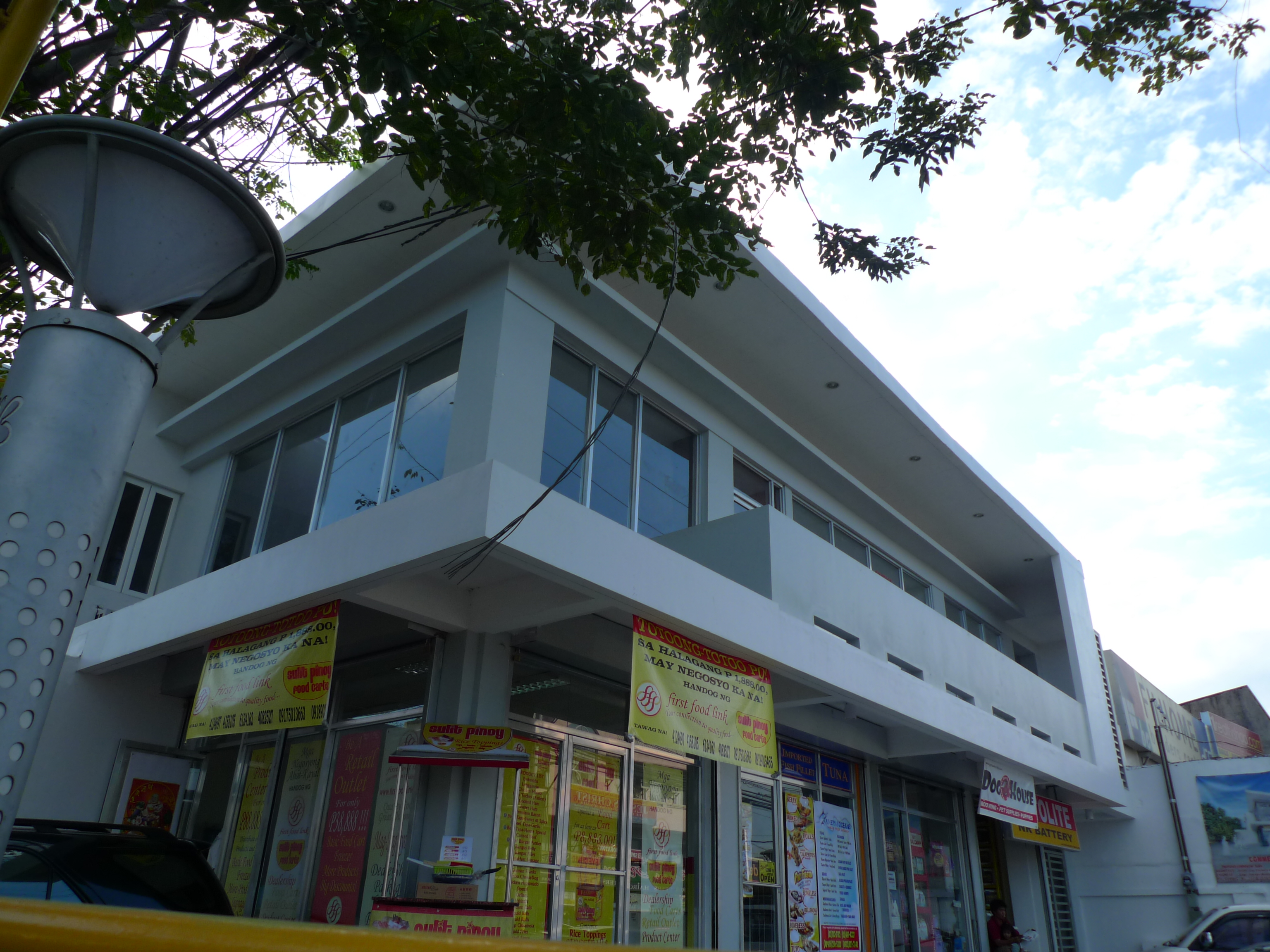 2 storey commercial residential complex paranaque for Modern commercial building design in the philippines